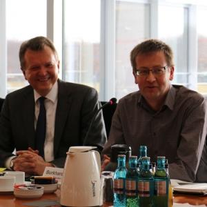 SPD-Abgeordnete Martin Dörmann und Burkhard Blienert © SPD-Bundestagsfraktion