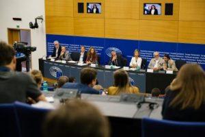 Pressekonferenz im Europaparlament